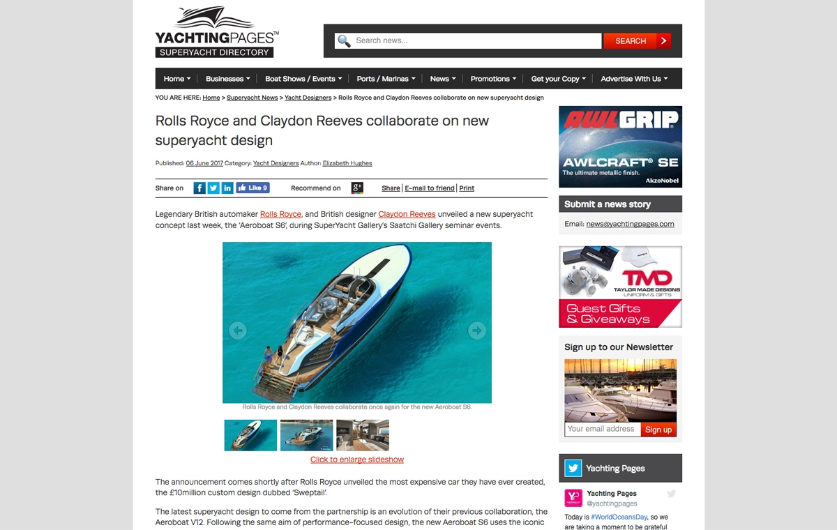 News image for Rolls-Royce and Claydon Reeves' new superyacht design