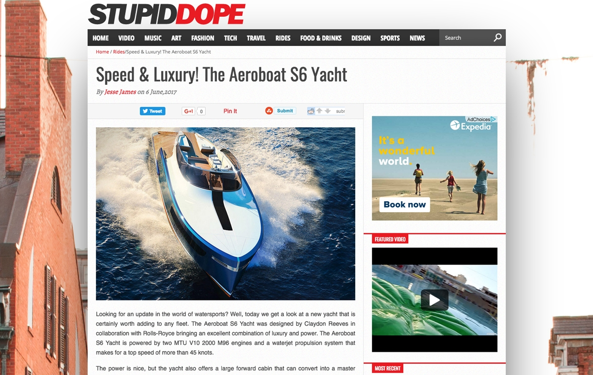 News image for Speed & Luxury! The Aeroboat S6 Yacht