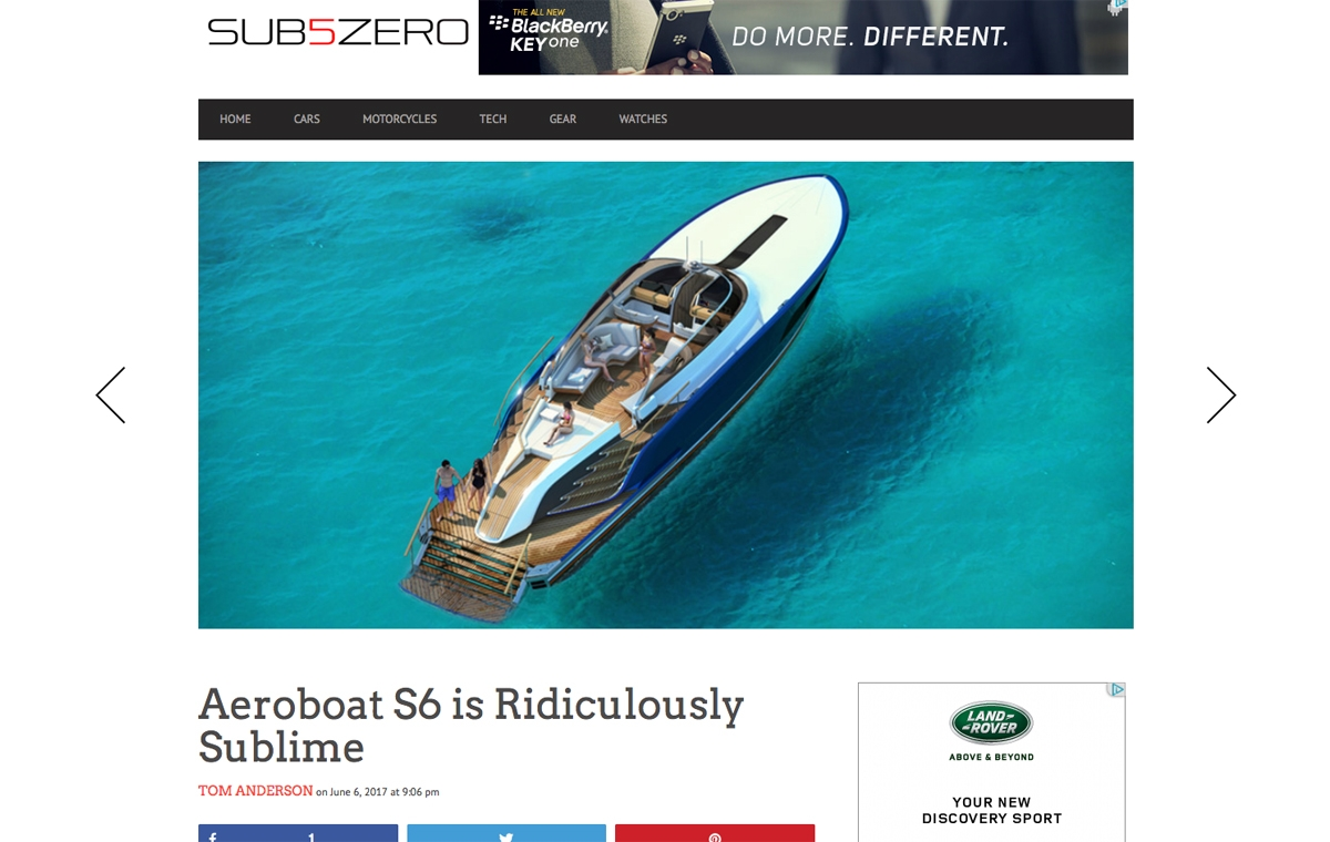 News image for Aeroboat S6 is Ridiculously Sublime
