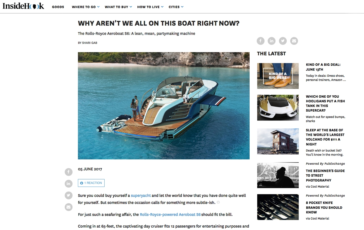 News image for Why Aren't We All on This Boat Right Now?