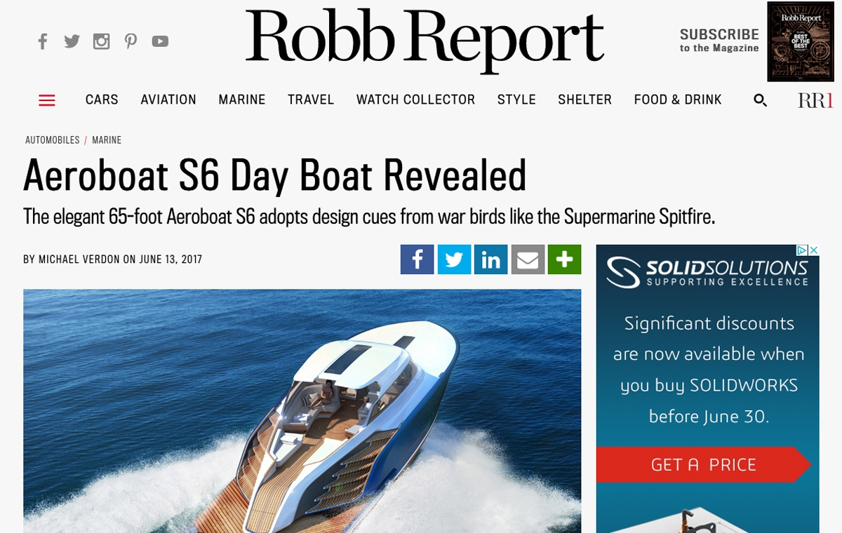 News image for Aeroboat S6 Day Boat Revealed