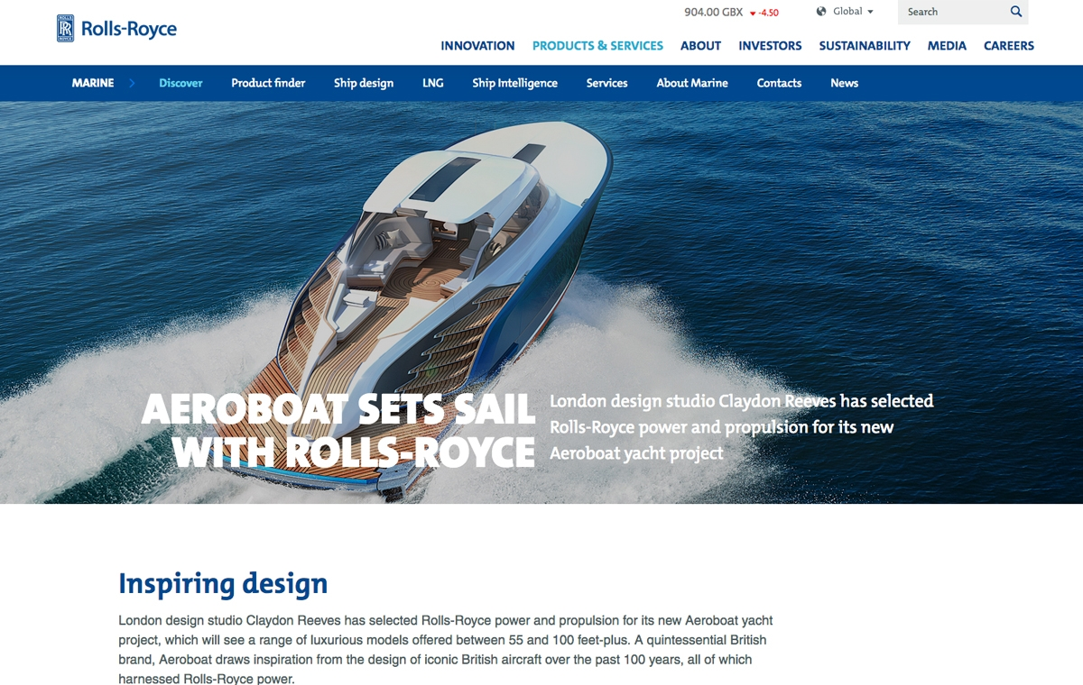 News image for Aeroboat sets sail with Rolls-Royce