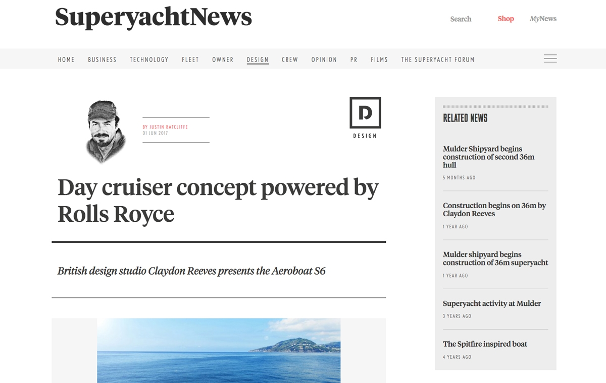 News image for Day cruiser concept powered by Rolls-Royce
